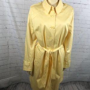 Apostrophe Stretch Yellow Overcoat with belt. EUC